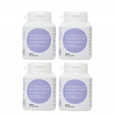 Lactobacillus & Bifidobacterium Multi Probiotic (4 Pack) (Vegan)