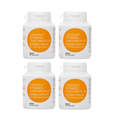 Longvida Optimised Curcumin Plus (Vegan) (4 Pack)