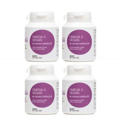 Plant Marine Algae Omega 3 Vegan, DHA/EPA (4 Pack)