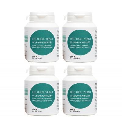 Red Rice Yeast plus CoQ10 (Vegan) (4 Pack)