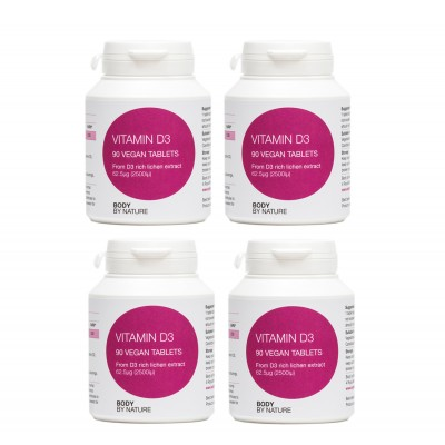 Vitamin D3 90 (Vegan) (4 Pack) - (2500i.u.)