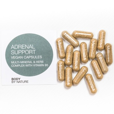 Adrenal Support (Vegan) - 100 Eco Pack - Vitamin B, Chromium, Kelp