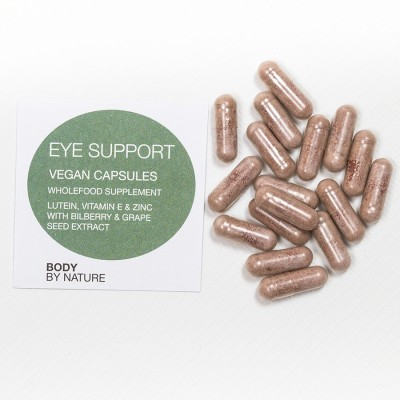 Eye Support (Vegan) - 100 Eco Pack - Lutein, Vitamin E, Bilberry