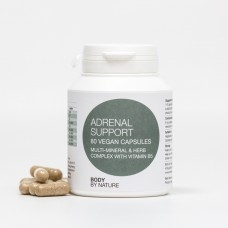 Adrenal Support (Vegan) (4 Pack) - Vitamin B, Chromium, Kelp