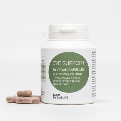 Eye Support (Vegan) - Lutein, Vitamin E, Bilberry