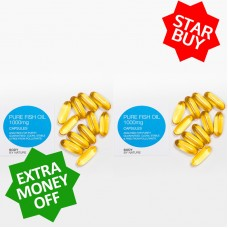 ** STAR BUY ** 2 x 100 Pure Fish Oil Eco Packs