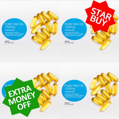** STAR BUY ** 4 x 100 Pure Fish Oil Eco Packs