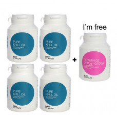 Pure Krill Oil + FREE Vitamin D3