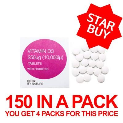 Vitamin D3 - (10,000iu) - 150 Eco Pack - 4 Pack